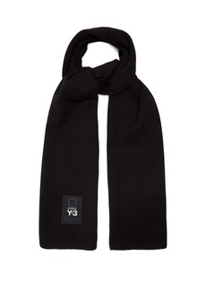 Y-3 Logo-patch wool scarf