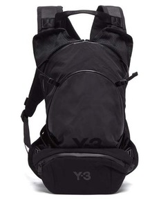 Y-3 Logo-print canvas backpack