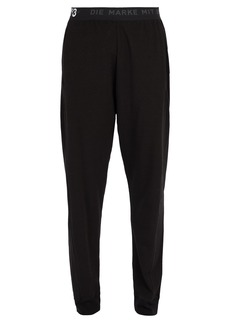 Y-3 Logo-print cotton-blend long john trousers