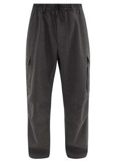 Y-3 Logo-print cotton-blend trousers