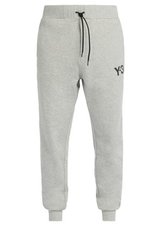 Y-3 Logo-print cotton-jersey track pants