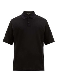 Y-3 Logo-print cotton polo shirt