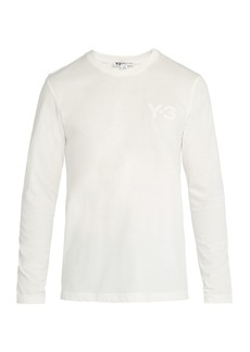 Y-3 Logo-print crew-neck long-sleeved cotton T-shirt