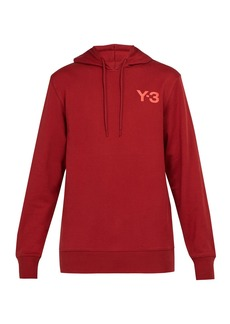 Y-3 Logo-print hooded cotton sweatshirt