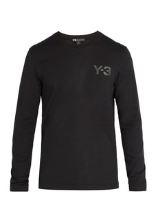 Y-3 Logo-print long-sleeved cotton T-shirt