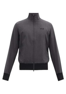 Y-3 Logo-print wool-blend track jacket