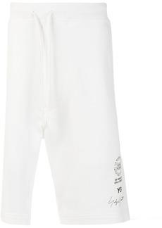 Y-3 logo track shorts