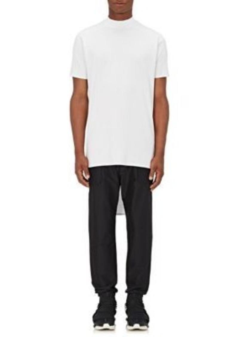 Y-3 Men's Cotton Mock Turtleneck T-Shirt-WHITE Size L