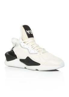 Y-3 Men's Kaiwa Leather Lace-Up Sneakers