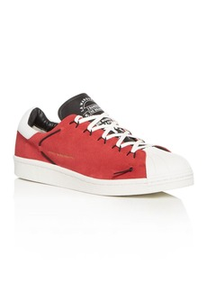 Y-3 Men's Super Knot Nubuck Leather Lace Up Sneakers