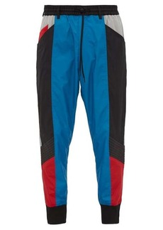 Y-3 Mid-rise block shell track pants