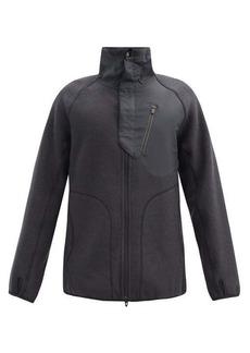 Y-3 Panelled fleece and ripstop jacket