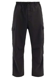 Y-3 Patch-pocket twill trousers