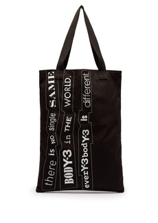 Y-3 Printed cotton-canvas tote bag