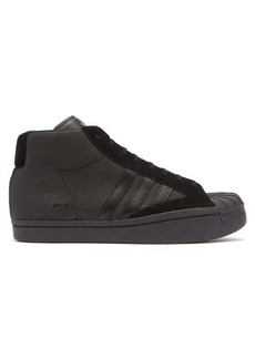 Y-3 Pro high-top leather trainers