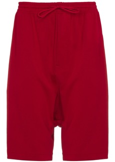 Y-3 Red striped shorts