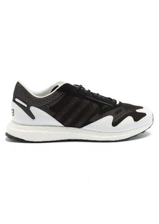 Y-3 Rhisu Run mesh and leather trainers