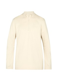 Y-3 Sashiko zipped cotton sweatshirt