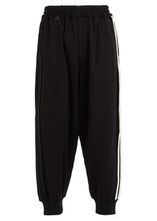 Y-3 Side-stripe cotton-blend track pants