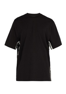 Y-3 Striped short-sleeve cotton-jersey T-shirt