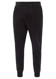 Y-3 Tapered-leg cotton-jersey track pants