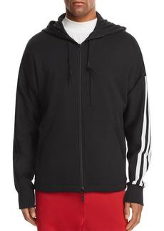 Y-3 Three Stripes Zip Hooded Sweatshirt