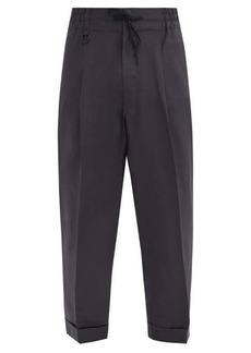 Y-3 Turned-up cuff ripstop tapered track pants