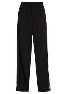 Y-3 Wide-leg cotton-blend track pants
