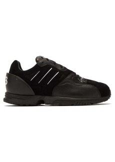 Y-3 Y-3 ZX Run leather and suede trainers