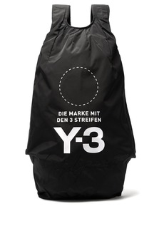 Y-3 Yohji Signature logo-print backpack