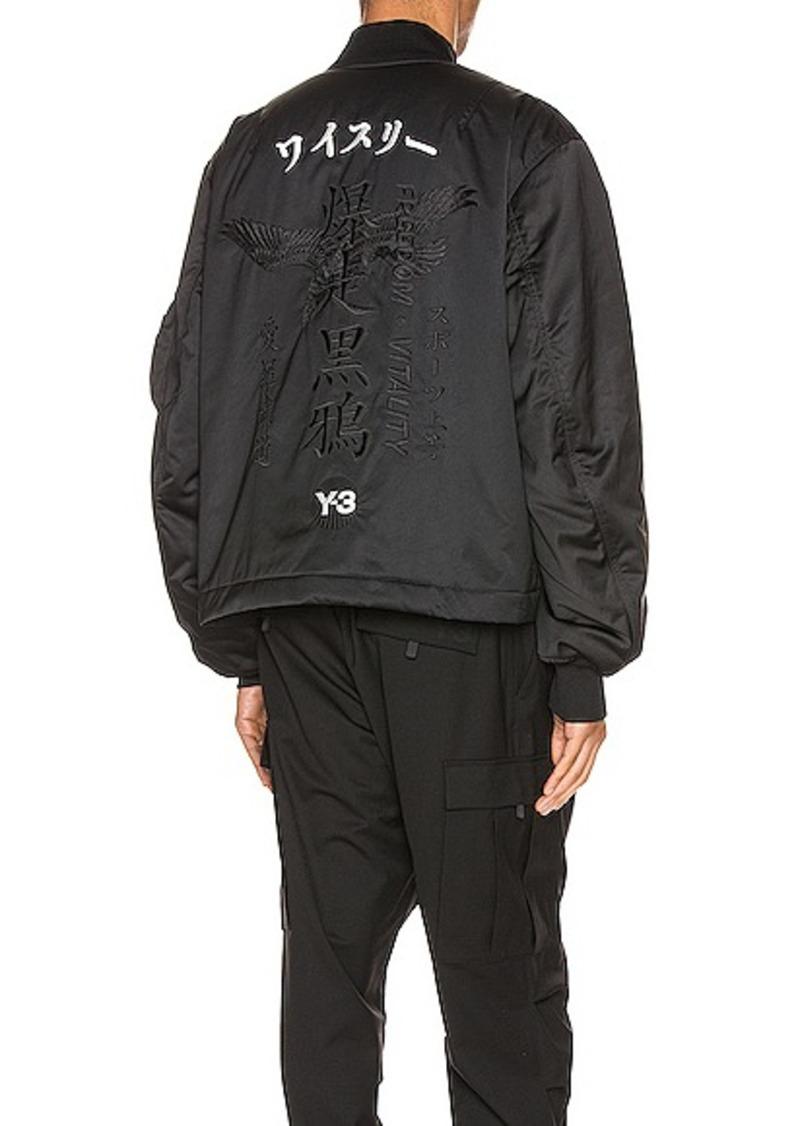 Y-3 Yohji Yamamoto Graphic Bomber Jacket