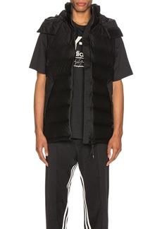 Y-3 Yohji Yamamoto Seamless Down Hooded Vest