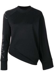 Y-3 Yohji Yamamoto angled waist slogan sweater