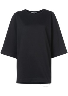 Y-3 Yohji Yamamoto applique stripe detail T-shirt