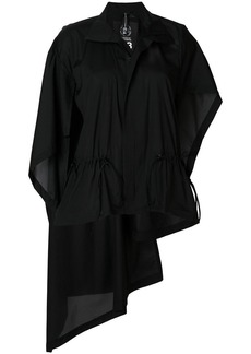 Y-3 Yohji Yamamoto asymmetric draped shirt