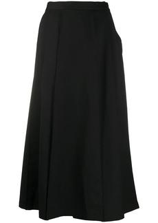 Y-3 Yohji Yamamoto asymmetric pleated skirt trousers