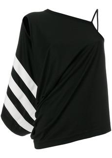 Y-3 Yohji Yamamoto asymmetric shoulder blouse