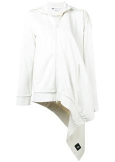 Y-3 Yohji Yamamoto asymmetric zip-up sweatshirt