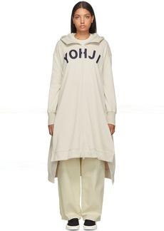 Y-3 Yohji Yamamoto Beige 'Yohji' Letters Full-Zip Dress