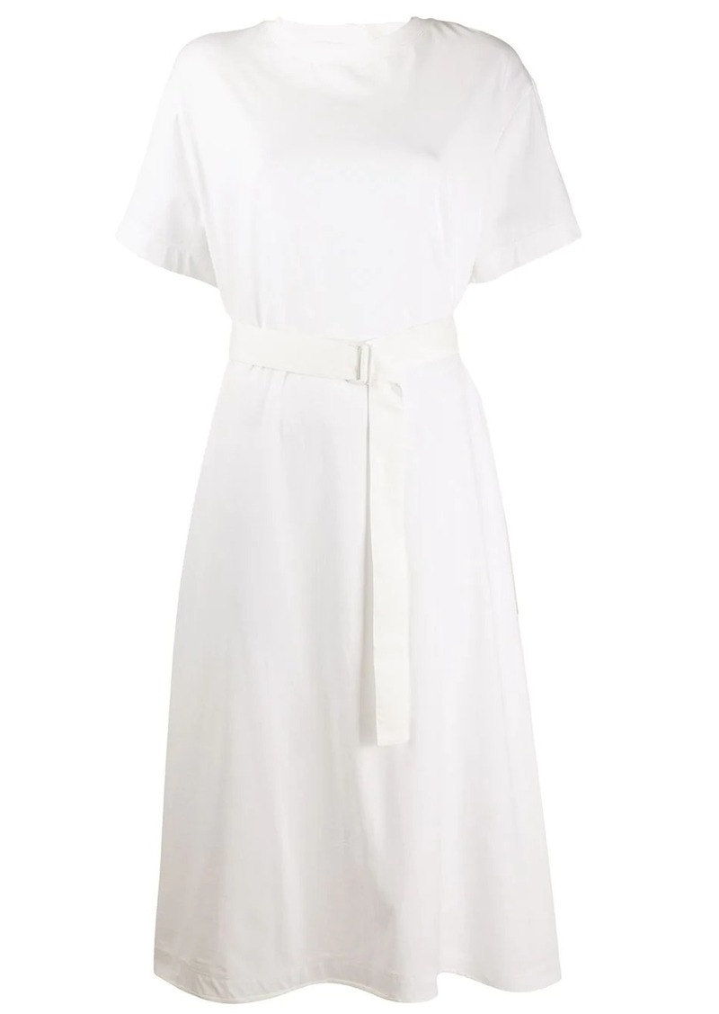 Y-3 Yohji Yamamoto belted T-shirt dress