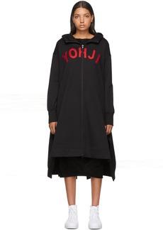 Y-3 Yohji Yamamoto Black 'Yohji' Letters Full-Zip Dress