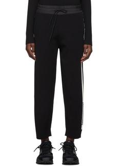 Y-3 Yohji Yamamoto Black Tech Knit Wide Lounge Pants