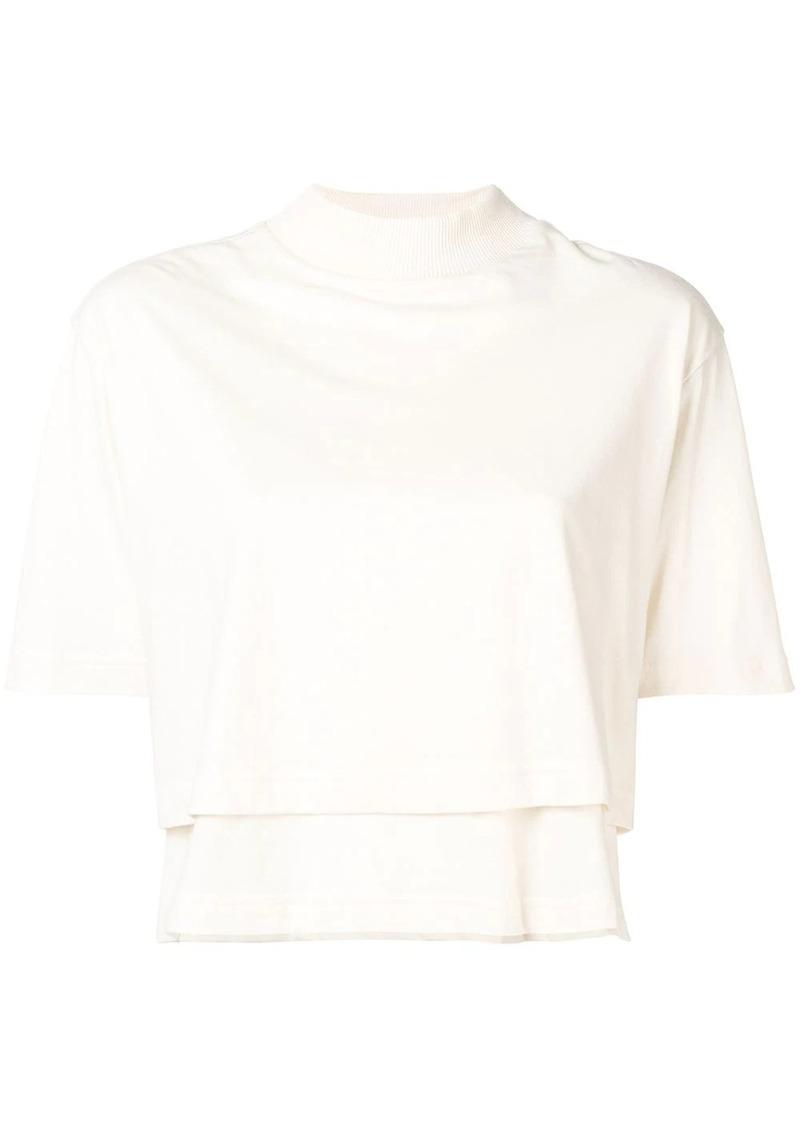 Y-3 Yohji Yamamoto logo-print layered T-shirt