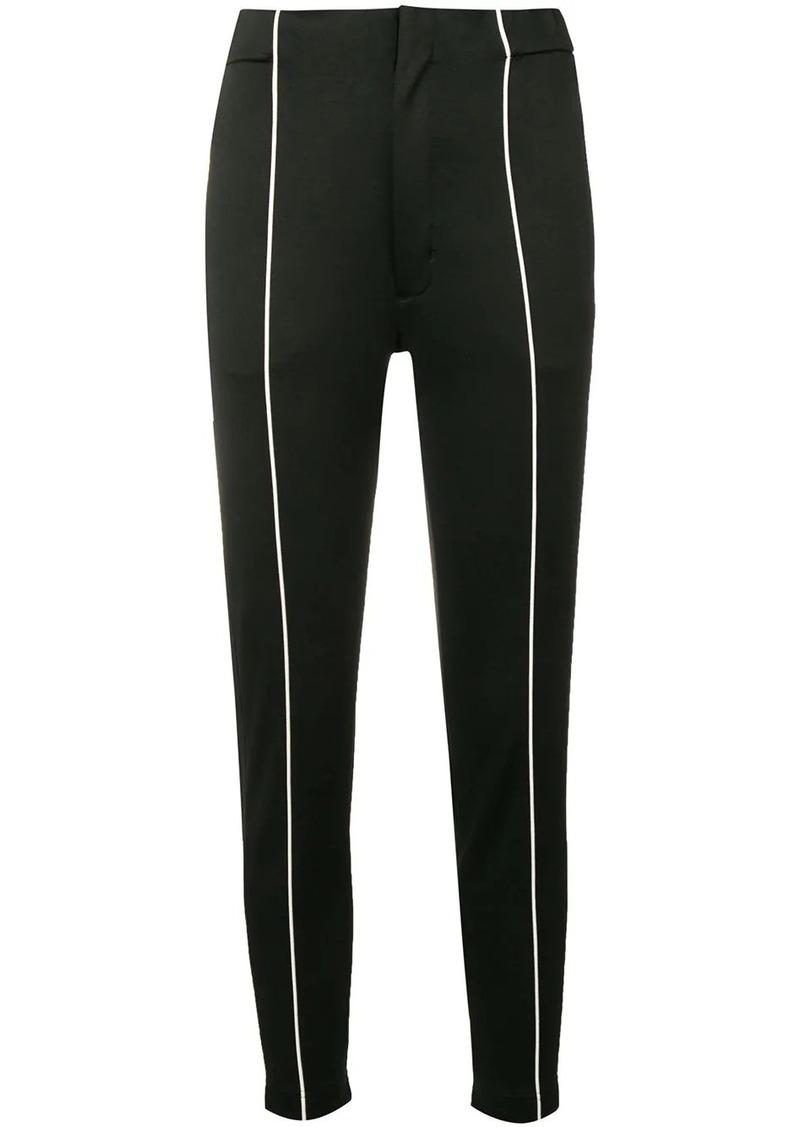 Y-3 Yohji Yamamoto contrast pipe trousers