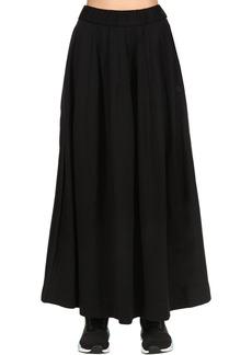 Y-3 Yohji Yamamoto Cotton Blend Track Skirt