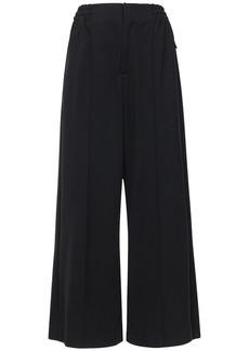 Y-3 Yohji Yamamoto Cotton Blend Wide Leg Pants