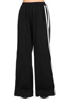 Y-3 Yohji Yamamoto Cotton Blend Wide Leg Track Pants