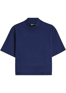 Y-3 Yohji Yamamoto Cotton T-Shirt with Logo Back