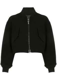 Y-3 Yohji Yamamoto cropped bomber jacket