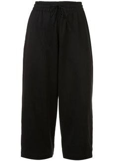 Y-3 Yohji Yamamoto cropped drawstring trousers